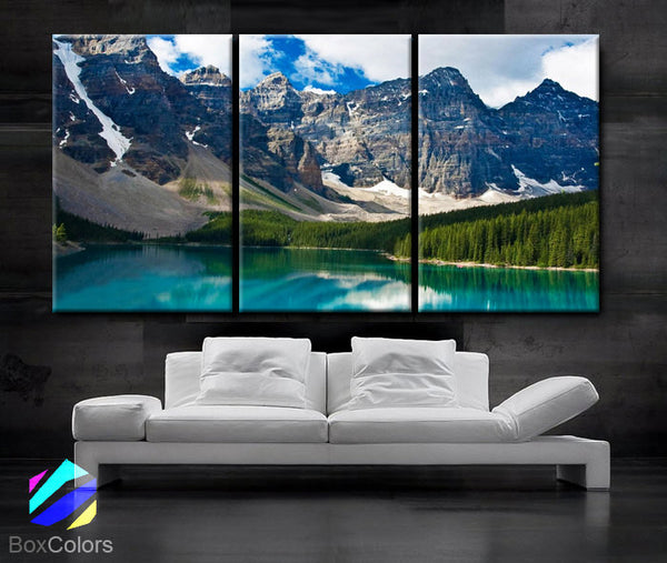 "LARGE 30""x 60"" 3 Panels Art Canvas Print beautiful Rocky Mountain Nature Wall Home decor interior (Included framed 1.5"" depth) - BoxColors"