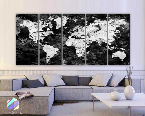 Products tagged world map canvas boxcolors xlarge 30x 70 5 panels 30x14 ea art canvas print original map world gumiabroncs Gallery