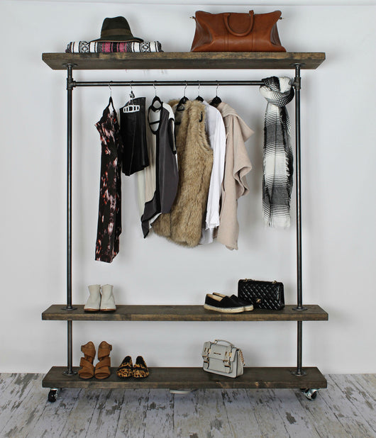 Triple Shelf Clothing Rack