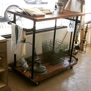 2 Tiered Bar Cart - Kitchen Cart Island