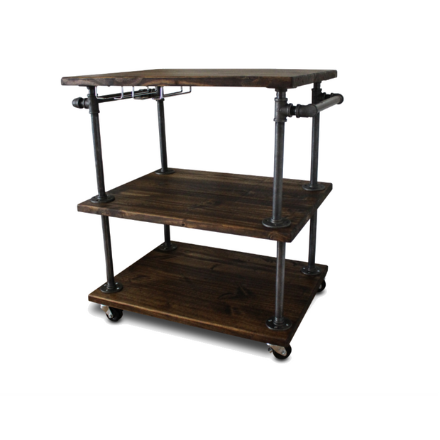 Genial 3 Tiered Bar Cart   Kitchen Cart Island