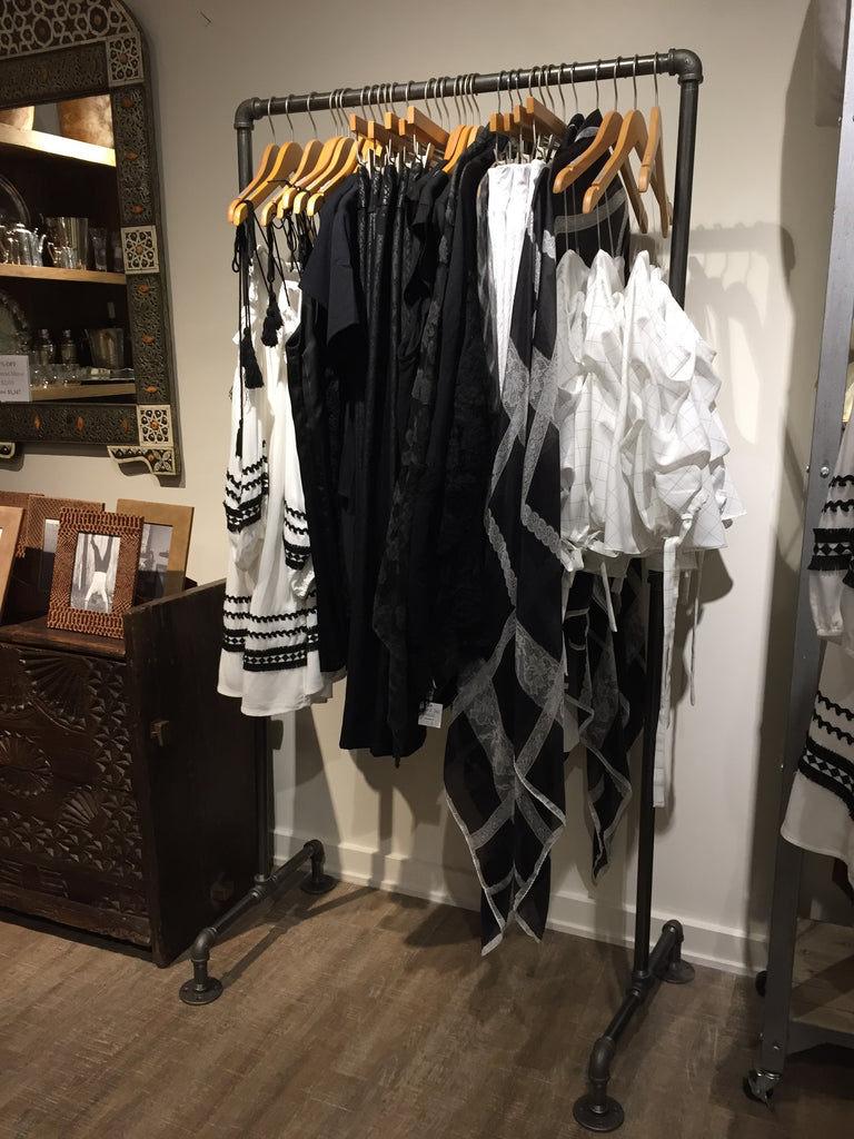 clothes rack black uncategorized hanging ideas style new and for homemade best clothing pipe astonishing