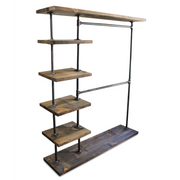 Industrial Double Bar Clothing Rack