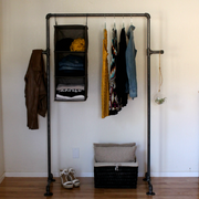 90 Pipe Clothing Rack - Industrial Retail Display