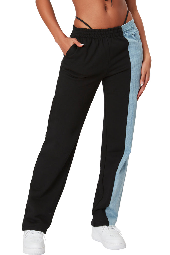 Eden Split Pants - Black