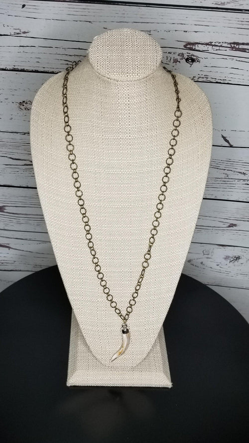 36 Inch Vintage Chain with Horn