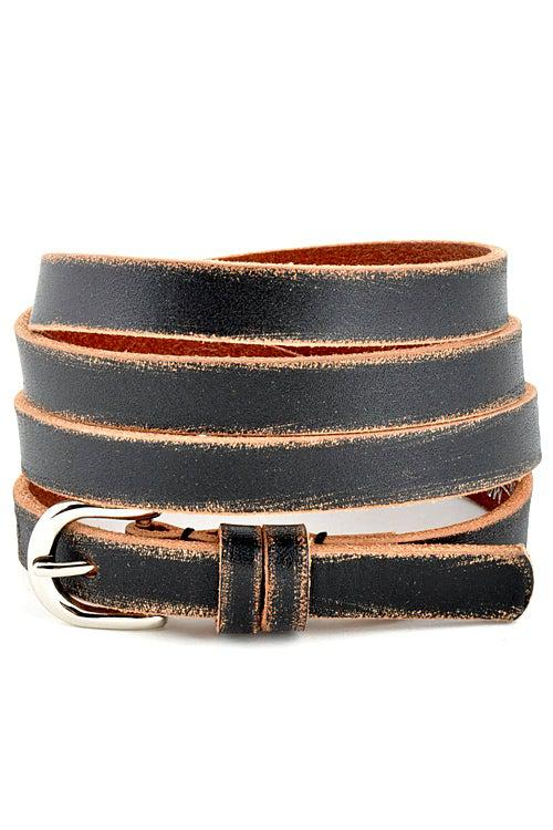 Genuine Leather Skinny Belt