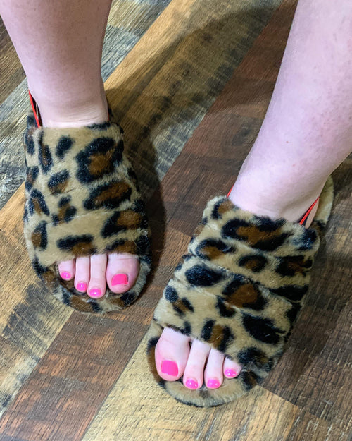 Snuggles Leopard Slippers