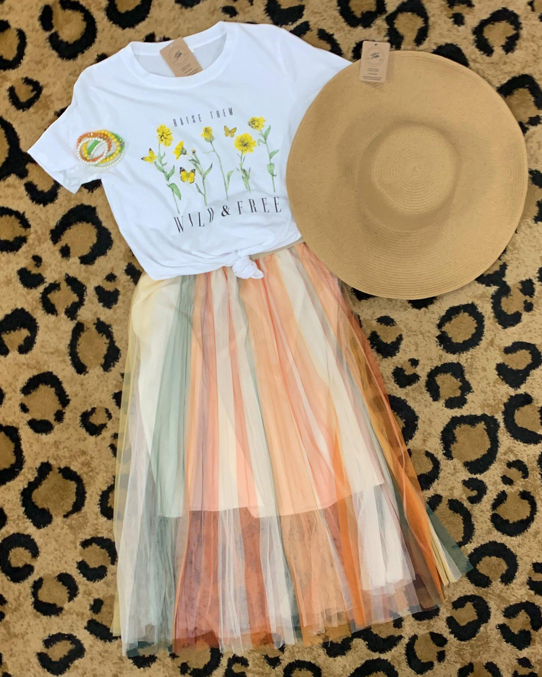 Yellow Mix Tulle Skirt