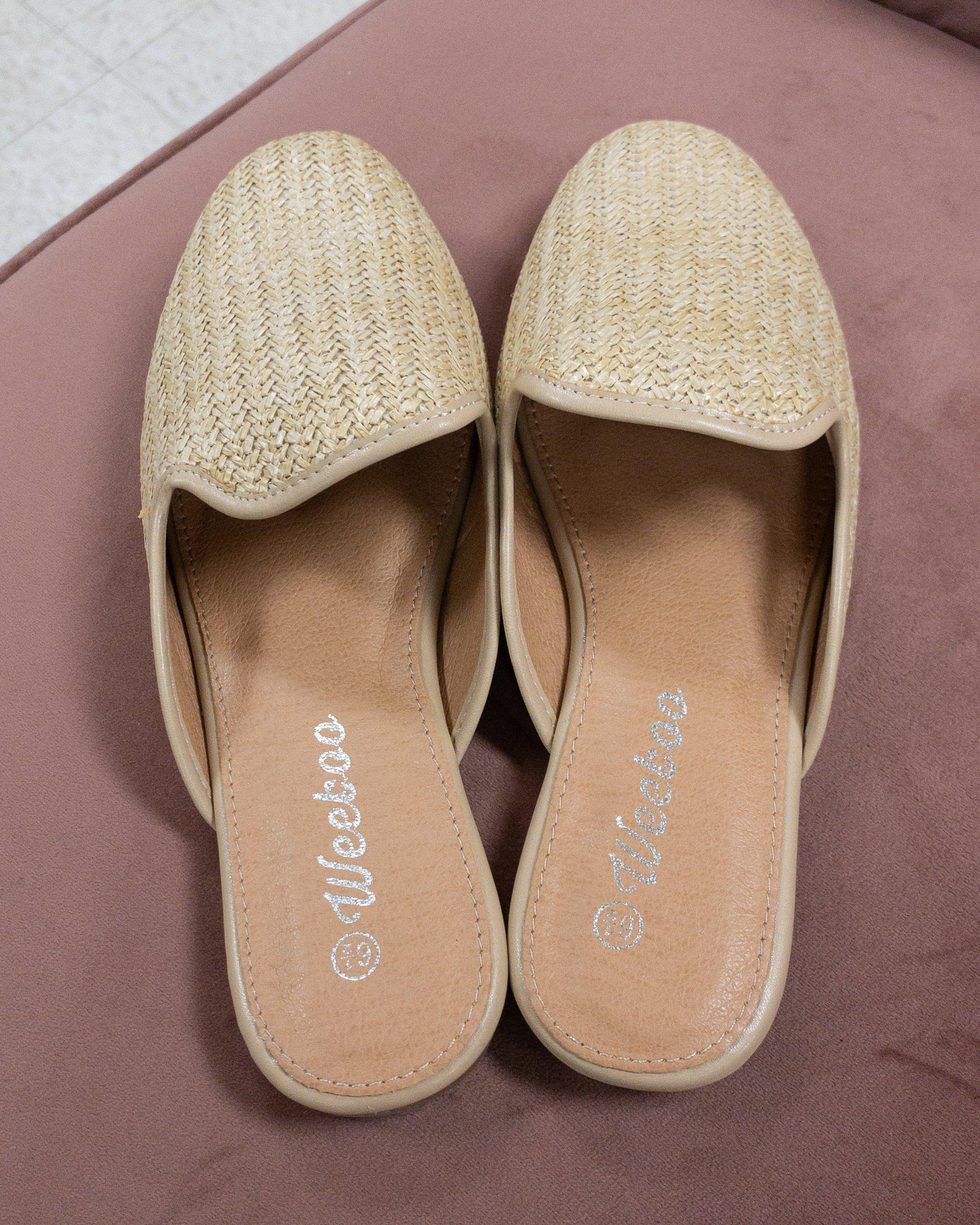 Raffia Slip On Shoes