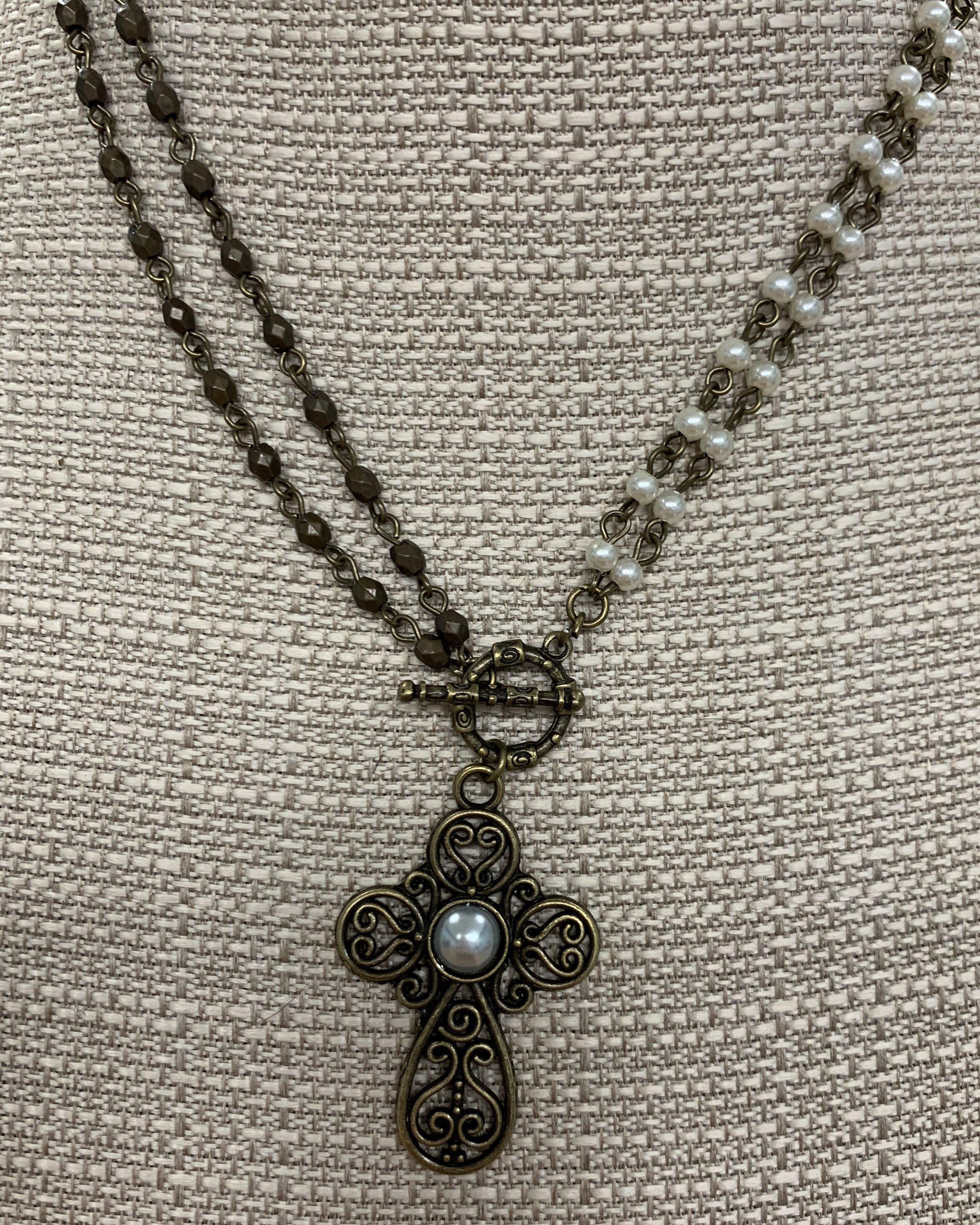 Filigree Cross Convertible Necklace
