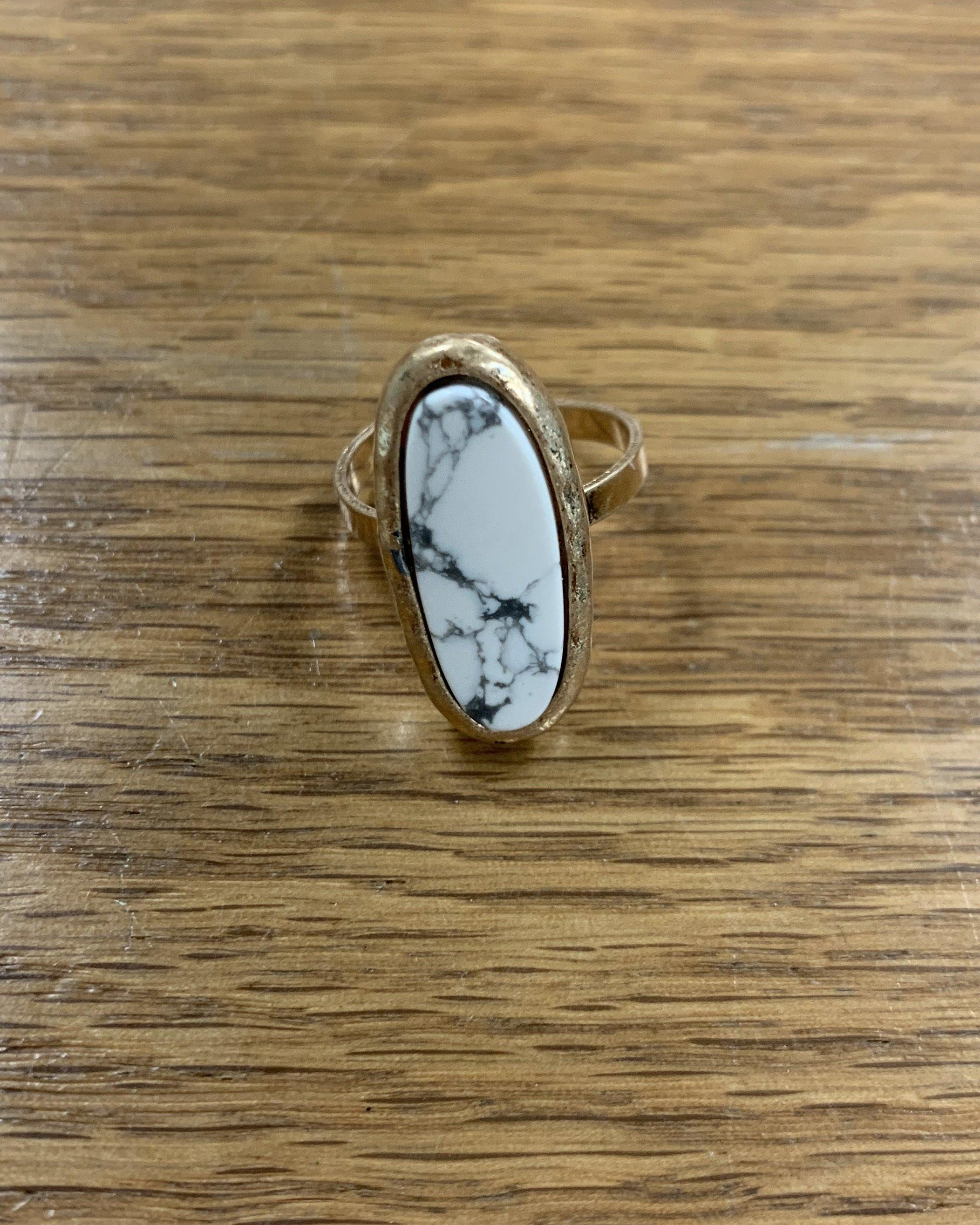 Oval Stone Adjustable Ring