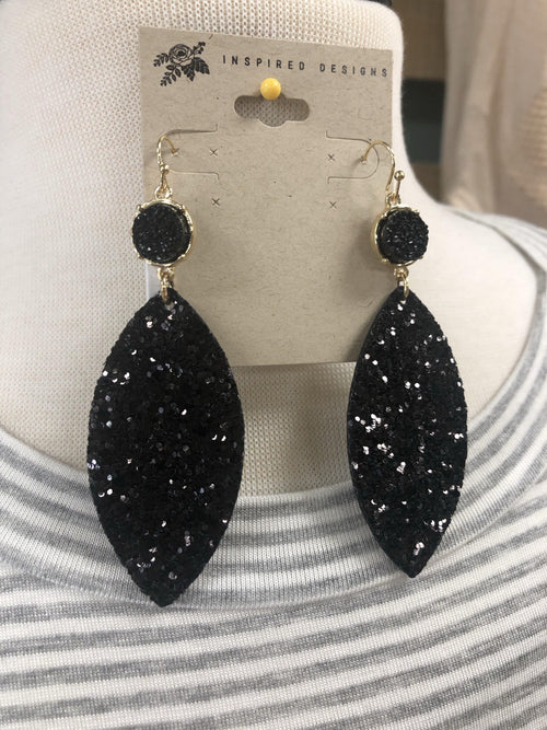 Sequin and Druzy Earrings