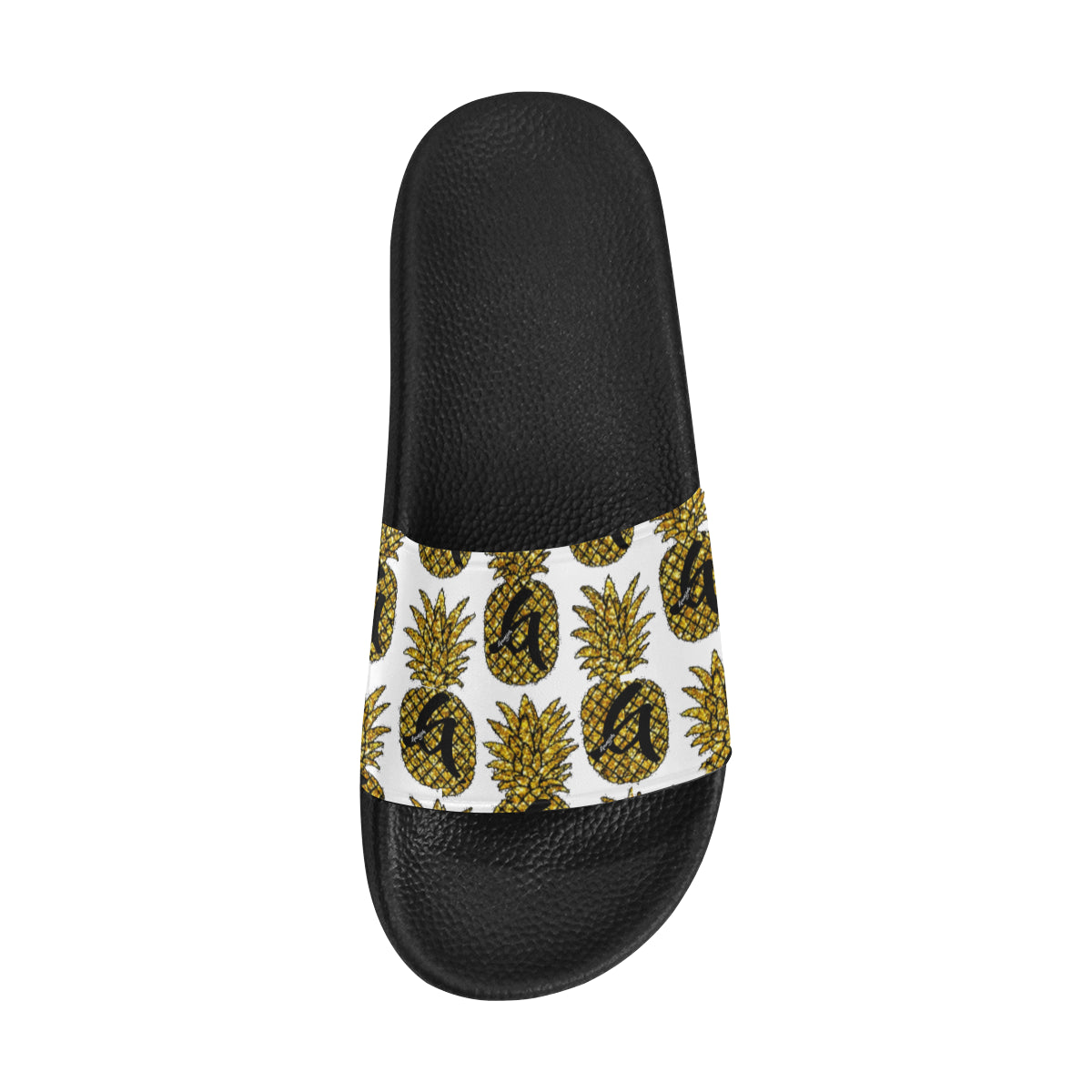 Gangish Pineapple White Men's Slide Sandals