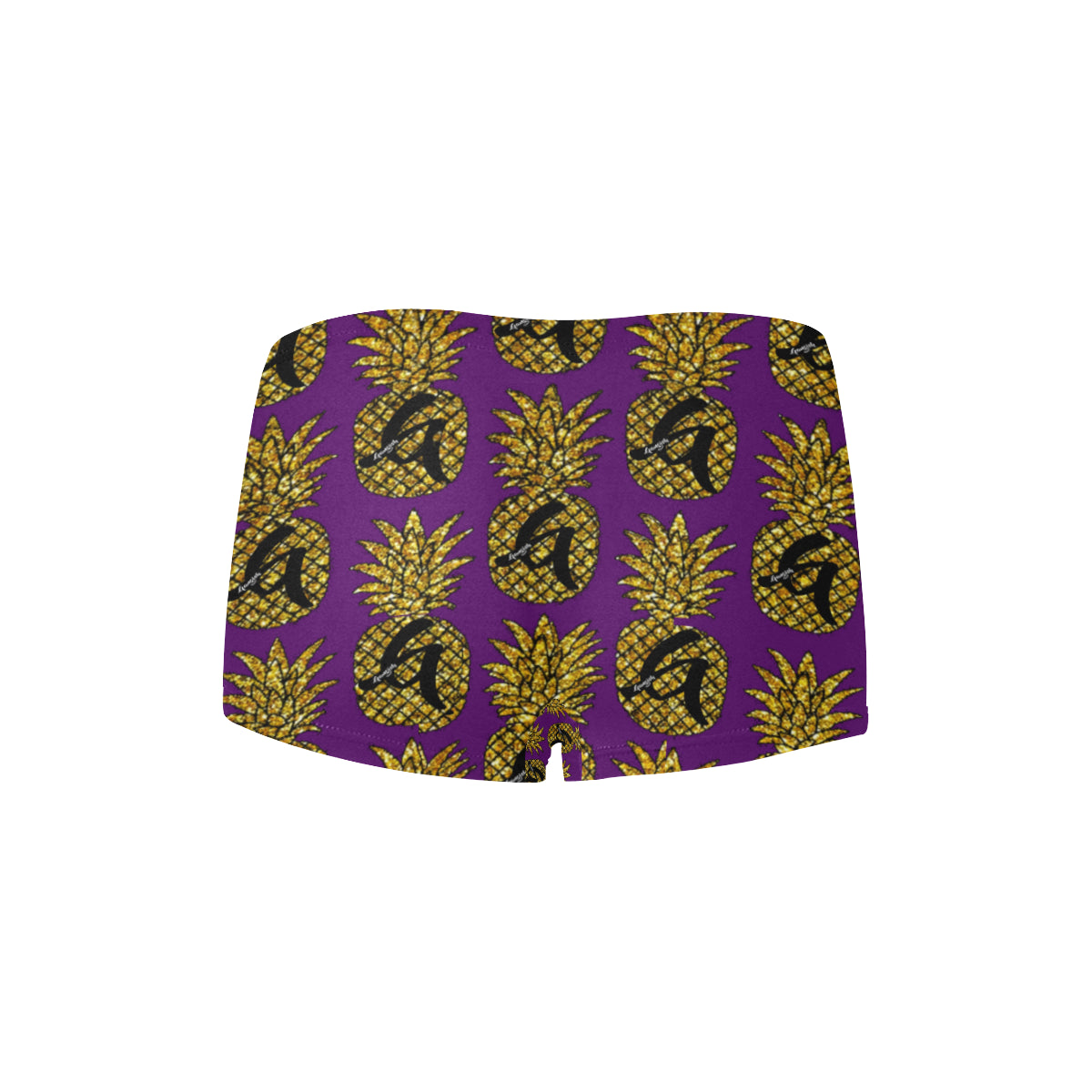 Gangish Royal Purple Pineapples Boyshort Panties