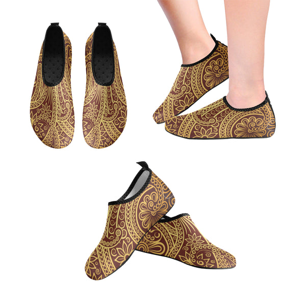 WddR Hydro1 Gold Slip-on Shoes