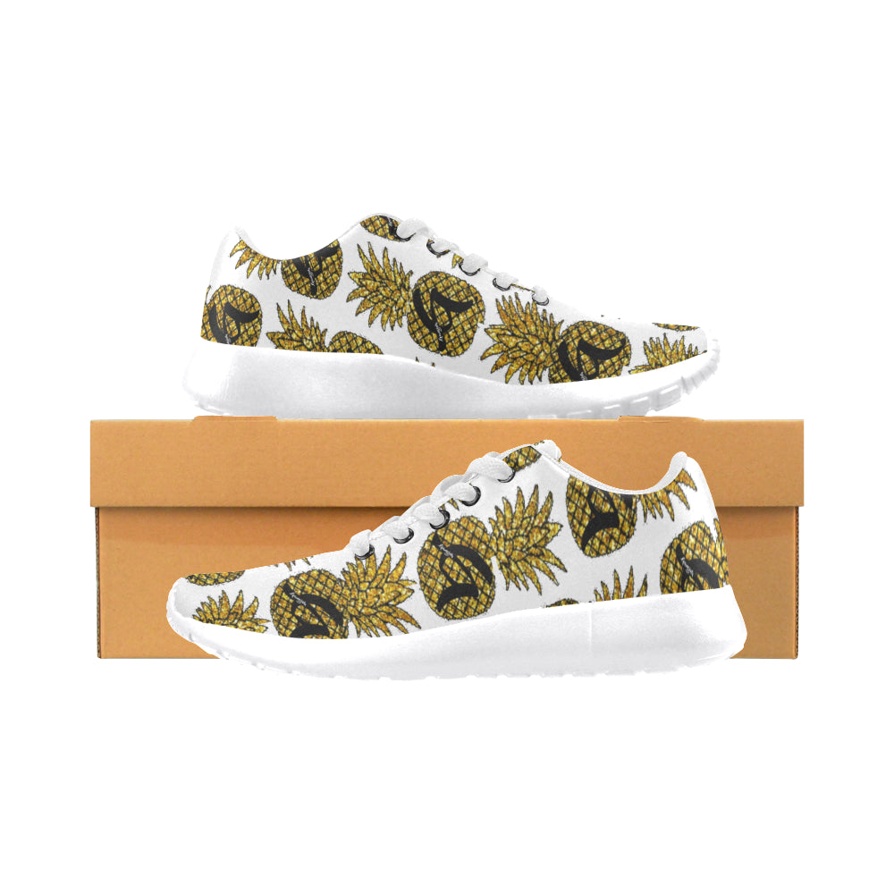 Gangish Pineapples Icy Whites Men's Running Shoes