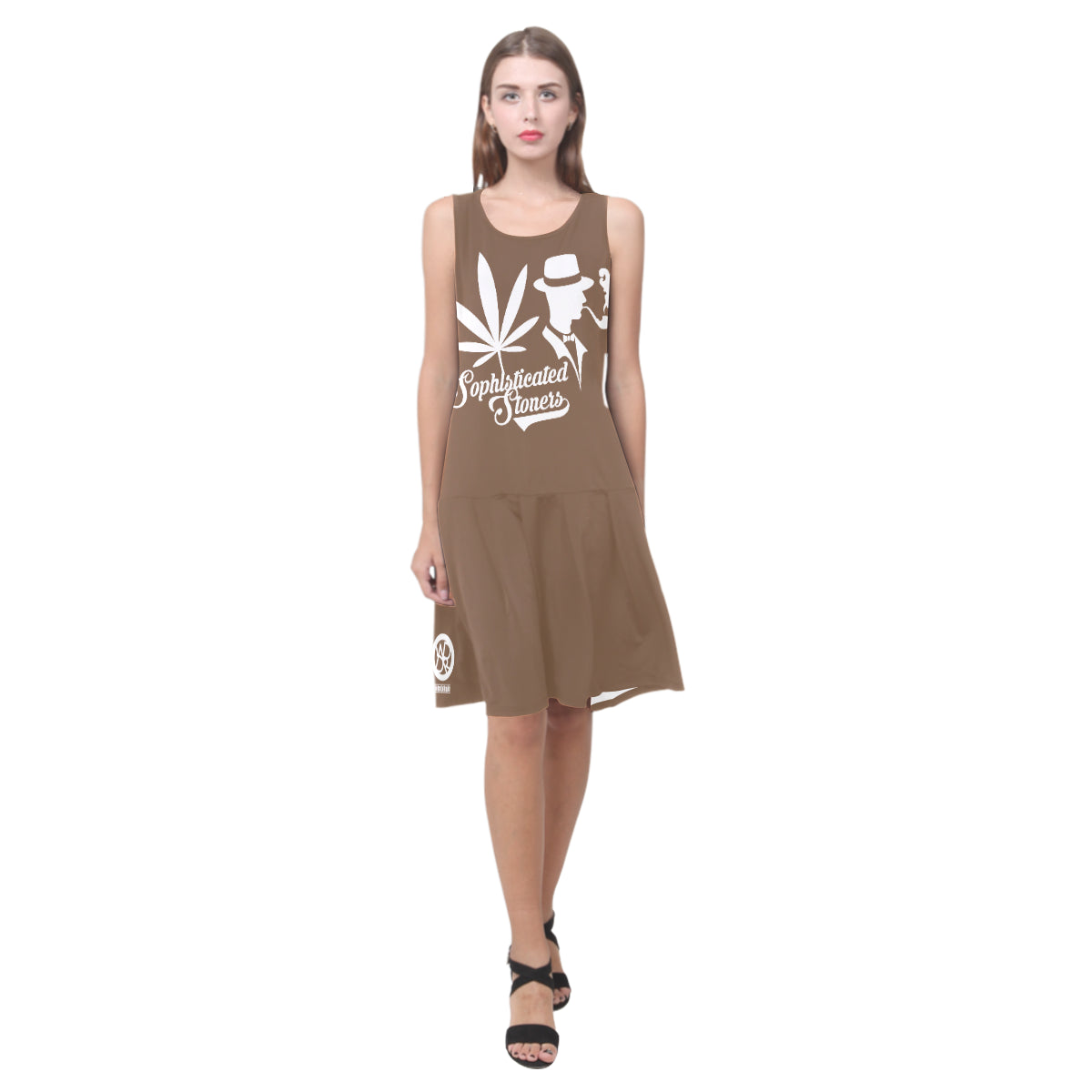 Chocolate Stoner Dress Sleeveless