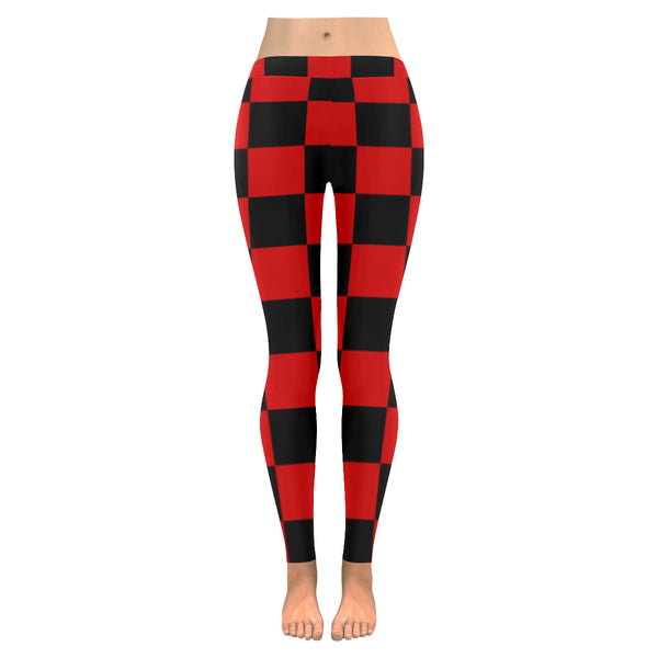 BJai Checkered Red Low Rise Leggings