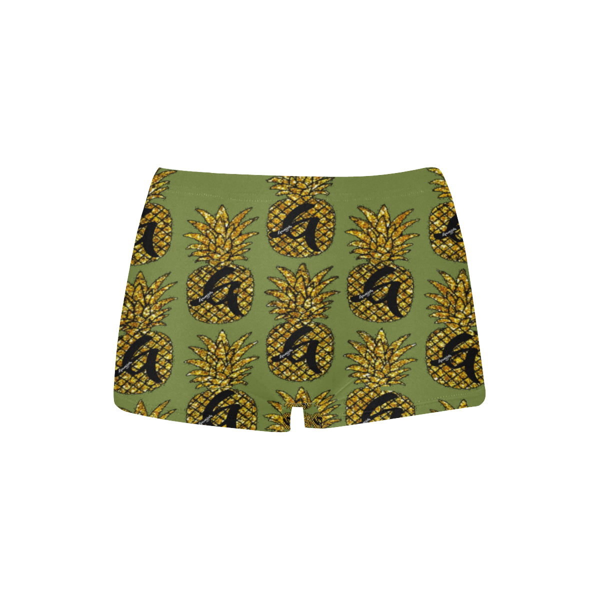 Gangish Olive Pineapples Boyshort Panties
