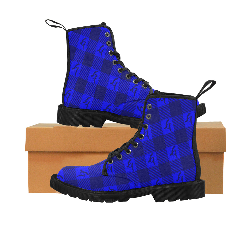 Gangish Flannel Blue Martin Boots