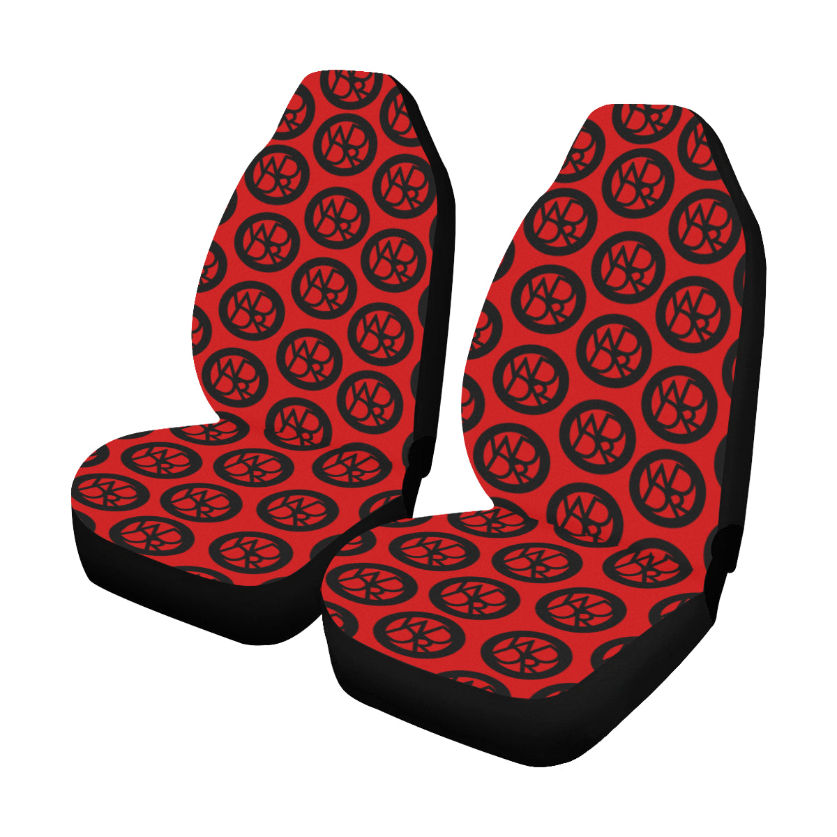 WddR Blk/Red Car Seat Covers (Set of 2)