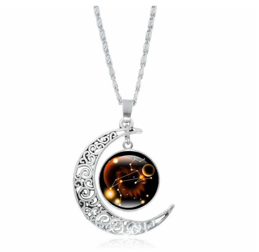 Glass galaxy moon necklace wddr clothing company glass galaxy moon necklace mozeypictures Choice Image
