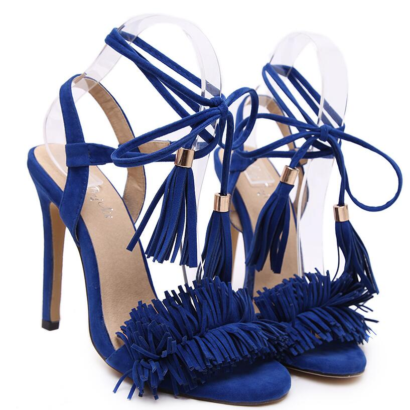 KD Tassel Sandals Stiletto