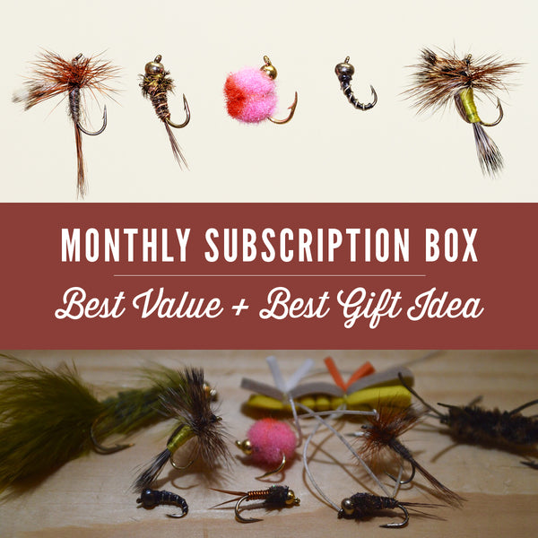 Fly fishing gear and tackle freedom flies freedom for Fly fishing subscription box