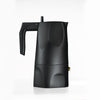 Ossidiana Espresso Coffee Maker, Black, by Alessi