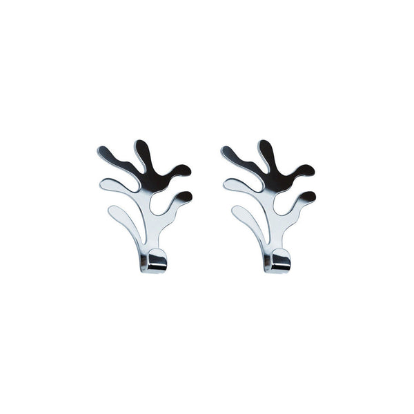 Mediterraneo S/S Wall Hooks, Set of 2, by Alessi