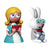Le Fiabe Alice and the White Rabbit Figurines, Set of 2, by Alessi