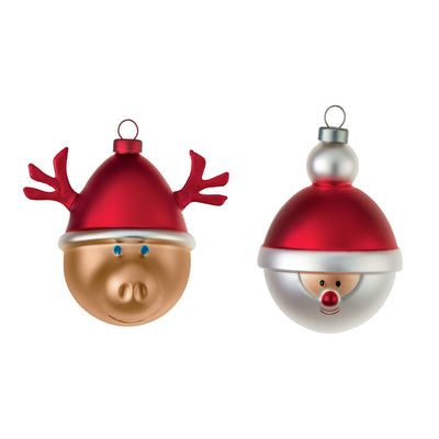 Christmas Ornaments Small, Set of 2, by Alessi