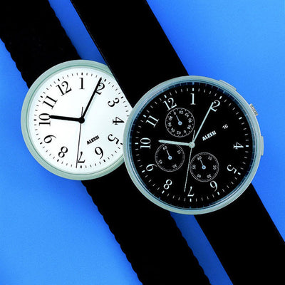 Replacement Strap for Chronograph Watch, Record Black, by Alessi Watches