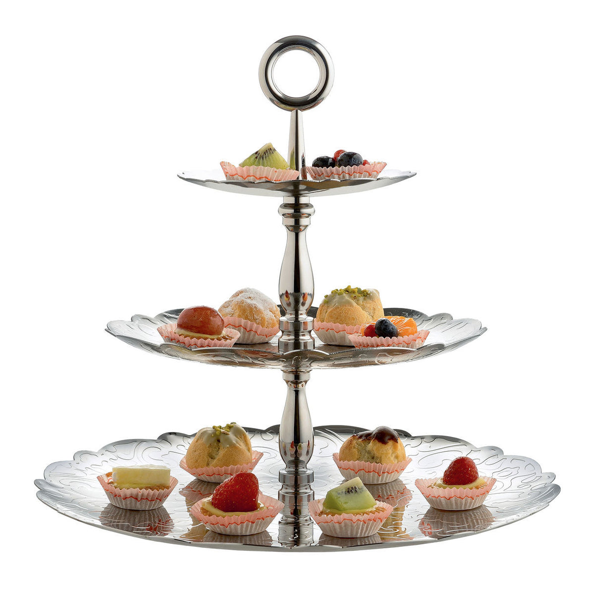 dressed for xmas threetiered cake stand by alessi