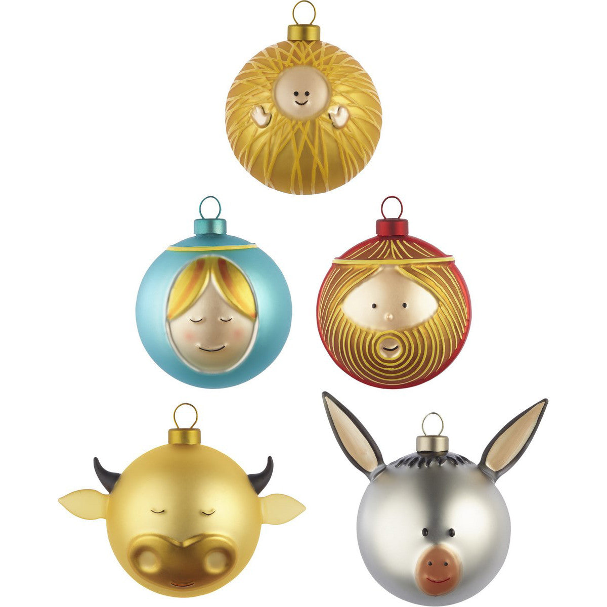 le palle presepe small christmas ornaments by alessi set of 5 - Small Christmas Ornaments