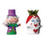 Le Fiabe The Hatter & The Queen of Hearts Figurines, Set of 2, by Alessi