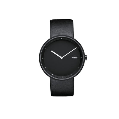 Replacement Strap for Out_Time Watch Black Dial, Black Strap, by Alessi Watches
