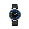 Replacement Strap for Tanto X Cambiare, Sargiani Black, and Blue Dial, by Alessi Watches