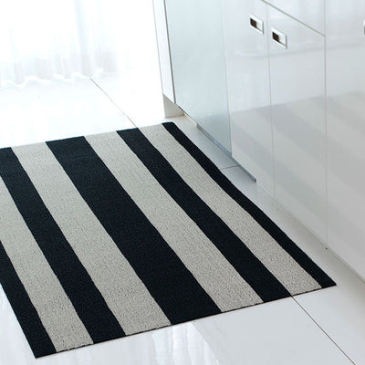 Bold Stripe Shag Indoor-Outdoor Floor Mat by Chilewich