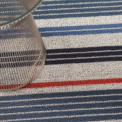 Mixed Stripe Shag Indoor-Outdoor Floor Mat by Chilewich
