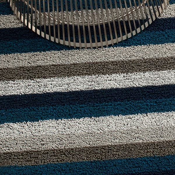 Even Stripe Shag Indoor-Outdoor Floor Mat by Chilewich