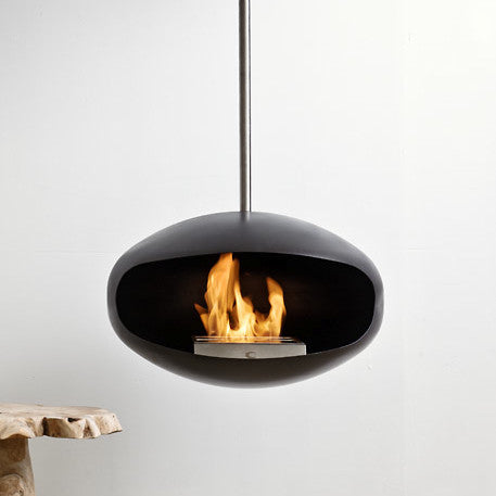 Aeris Hanging Fireplace by Cocoon Fires