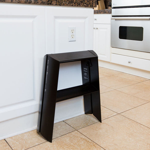 Lucano Step Stool, 2-Step Wide, by Hasegawa Ladder
