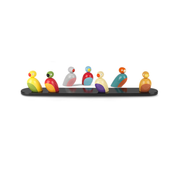 Sparrows Wooden Toy, 7 Piece, by Kay Bojesen