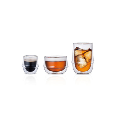 Kronos Double Wall Ice Tea Glass by Kinto
