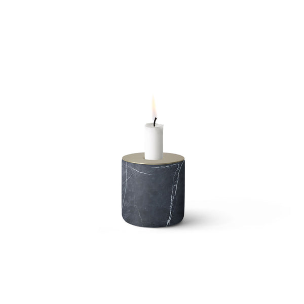Chunk of Black Marble Candleholder by Menu