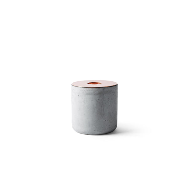 Chunk of Concrete Candleholder by Menu