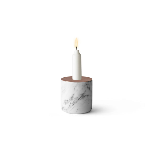 Chunk of Marble Candleholder by Menu