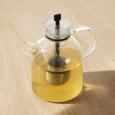 Glass Kettle Teapot with Tea Egg by Menu